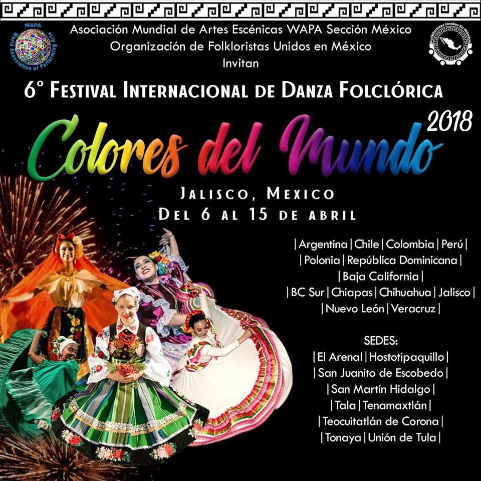 3726fcfb0 Festival Internacional de Danza Folklórica. Los Colores del Mundo ...